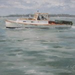 A Great Day on Casco Bay 8x10 oil on canvas