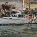 Bringing in the Catch-6x8 oil on linen-$900-SOLD