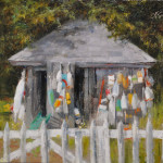 Buoy Shed-9x12 oil on linen panel-SOLD
