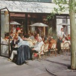 Cafe conversations-Paris-16x20-oil on linen