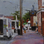 Commercial St. 11x11,oil on linen-SOLD