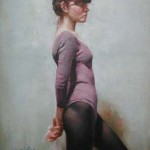 Dancer in Profile-12x16-oil on canvas