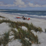 Day at the Beach, 9x12 oil on linen panel- SOLD