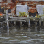 Derelict Dock 11x14 oil on linen panel-Private collection