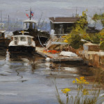 Dockside-6x9 oil on linen-SOLD