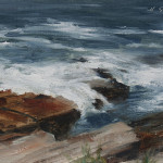 Fort williams ocean study 6x9 oil on linen panel-SOLD