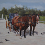 French Carriage-14x18-oil on stretched linen-Private collection
