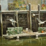 Life on the Docks-12x16 oil on linen panel-SOLD