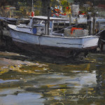 Lowtide=6x6 oil on linen panel-SOLD