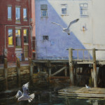 Old Port Gulls-24x18 oil on linen