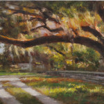 Old Southern Oak-7x15 oil on panel-SOLD