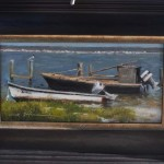 Oyster Boats-5x10 oil-SOLD
