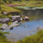 Peaceful Water, 18x24 oil on linen