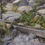 Secluded spot-12x16 oil on linen panel-private collection