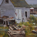 Storage shed, 9x12 oil SOLD