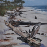 Stumphole beach-14x11 oil SOLD