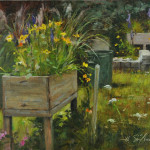 The Flower planter-8x10 oil-SOLD