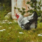 The Happy Hen-12x16 oil on linen panel-SOLD