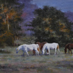 The Star Grazers-12x16 oil on linen-SOLD