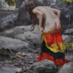 The Swimming Hole-7x5 oil on linen panel-SOLD