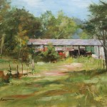 The old equipment shed-12x16 oil on linen