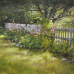 The old picket fence-18x24 oil on linen-SOLD