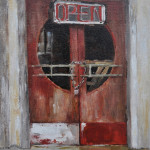 Theater door-St Joe-10x8 oil -SOLD