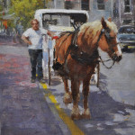 Waiting on a Fare-8x6 oil on linen-SOLD