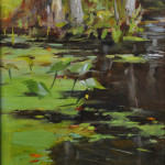 Wekiva River-(Field study)12x7 oil on linen-SOLD