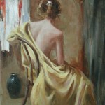 Yellow wrap-12x16oil on canvas-study for poss giclee