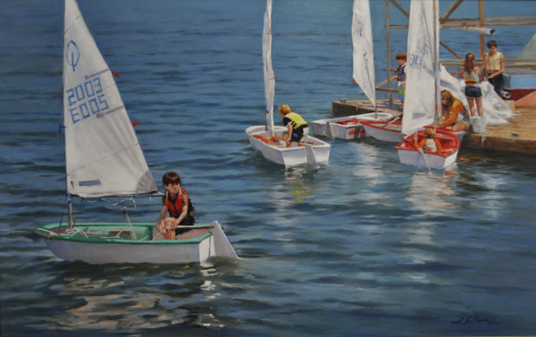 1-Little Sailors-24x38 oil on linen