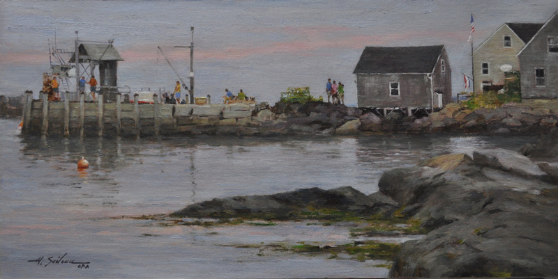 1. Waiting on the Ferry-12x24 oil on linen