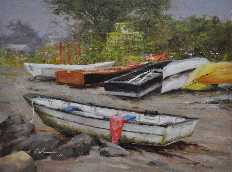 2. Boats and Traps-12x16-oil