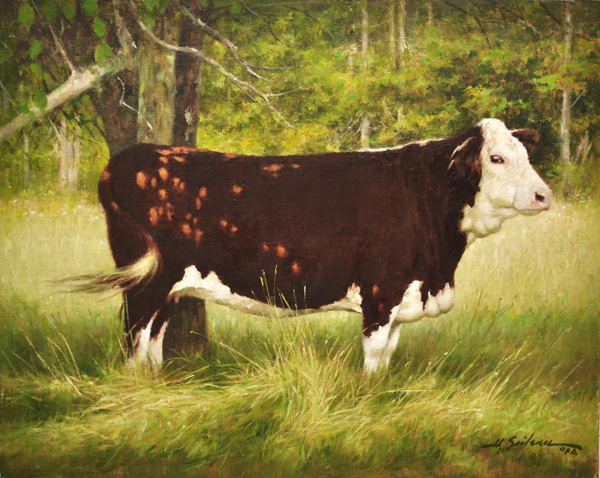 3. Humble Farmer's Cow-16x20 oil on linen