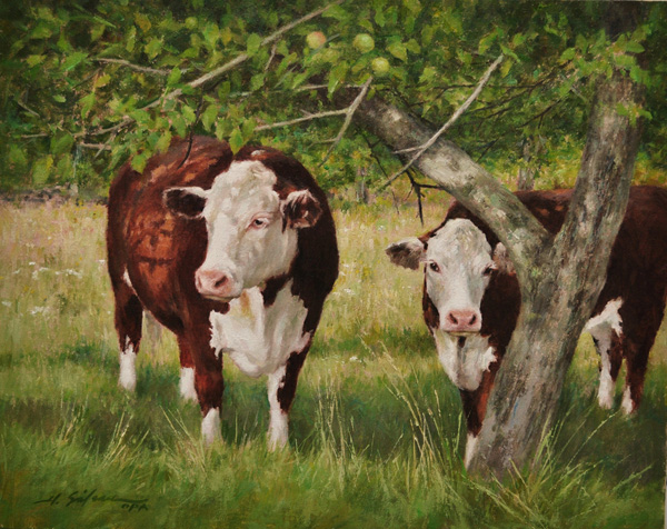 4. Shade of the apple tree-16x20 oil on linen