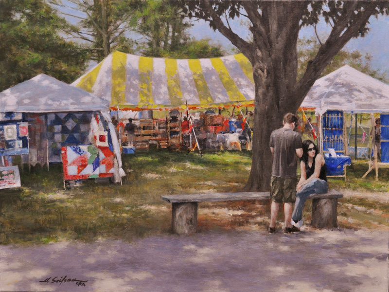 Day at the Fair-18x24 oil on linen