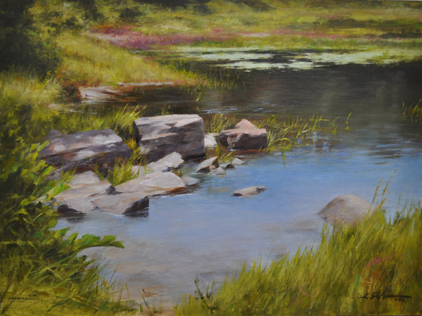 Peaceful Water-18x24-oil on linen
