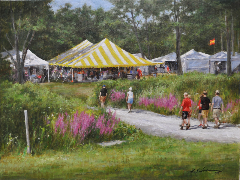 Summer Fair-18x24 oil on linen