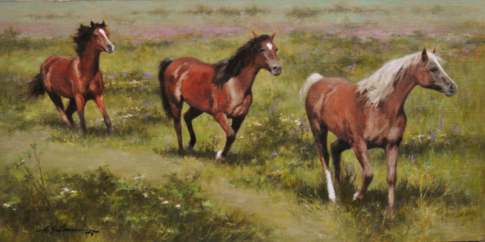 The Chestnut Leads-15x30 oil on linen