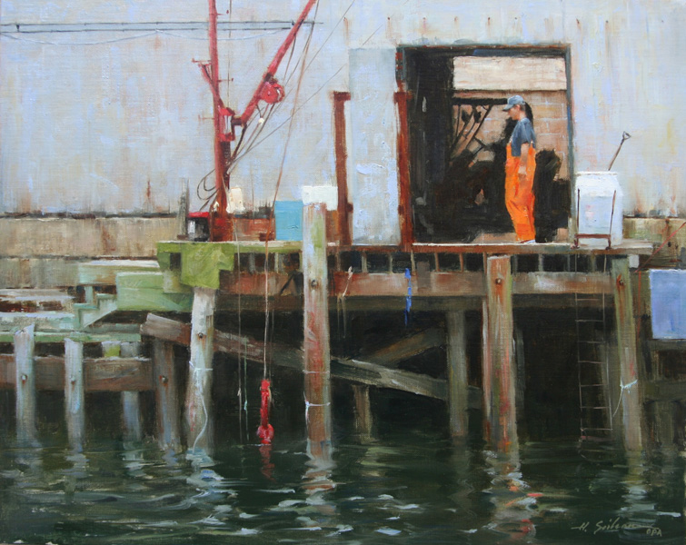 Fisherman`s Dock- 16x20 oil on linen